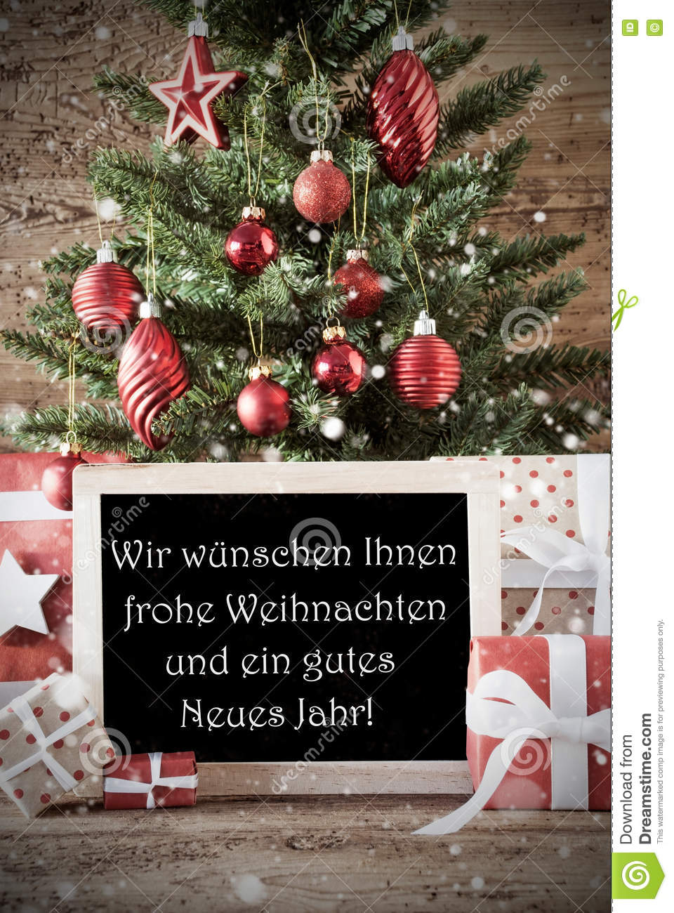 Tree With Nostalgic Text Frohe Weihnachten Means Merry ...