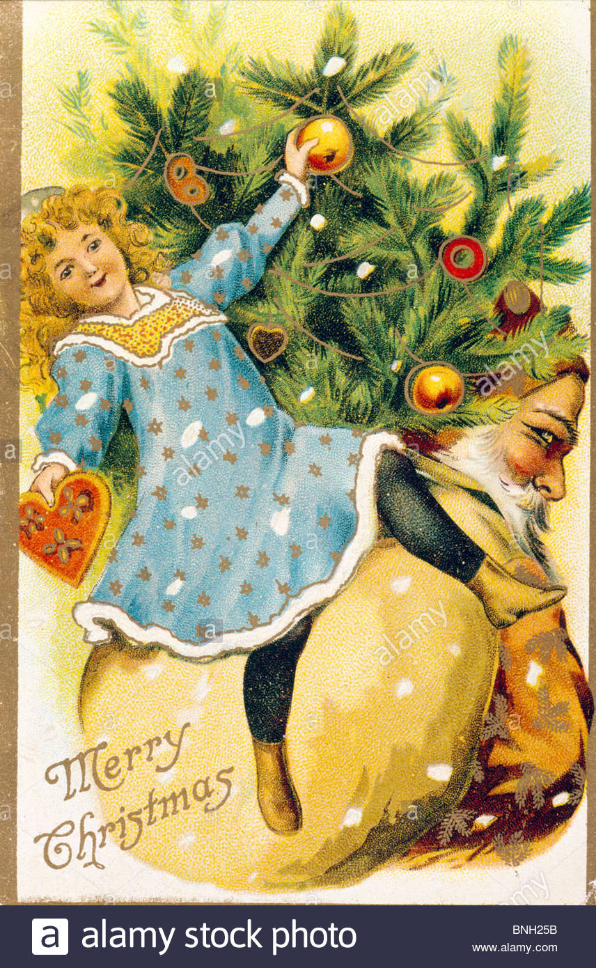 Victorian Christmas Cards Stockfotos & Victorian Christmas ...