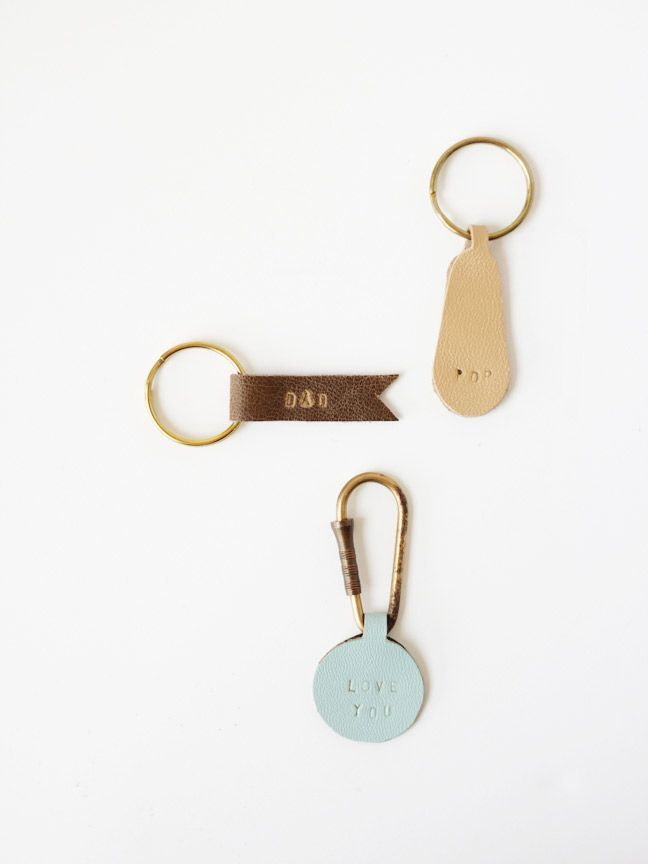 DIY Personalized Leather Keychains for Dad ...