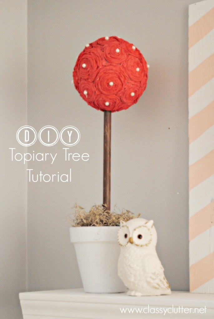 DIY Topiary Trees Tutorial